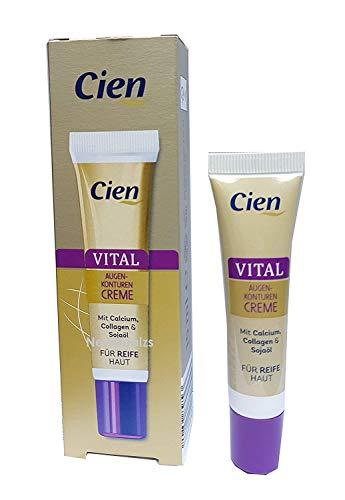 Augenkonturcreme mit Calcium, Collagen & Sojaöl - 15 ml (für reife Haut)