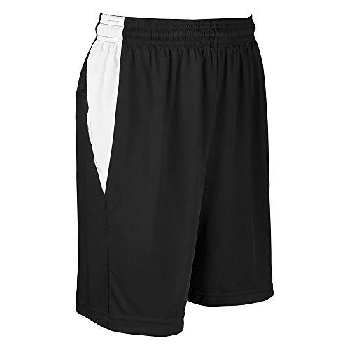 CHAMPRO Block Basketball Short Black, White Women's L BBS13 BBS13WBWL