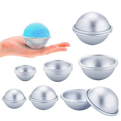 MUCHEN-SHOP Seifenform Bath Bomb Molds,18 Pack Badekugel Form mit 3 Größen Metall Formen für Badekugeln DIY Bad Bombe Schimmel für DIY Handgemachte Badekugeln und Seifen