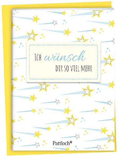 Ich wünsch dir so viel mehr: Spruch-Heftchen mit Kuvert