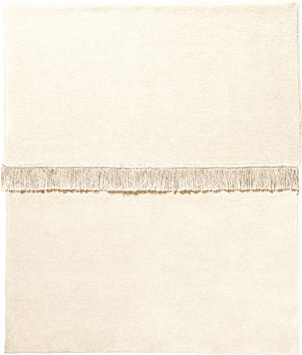 Erwin Müller Plaid, Wolldecke, Wohndecke Natur Größe 150x200 cm - anschmiegsam, temparaturausgleichend, mit Fransen - (weitere Farben, Größen)
