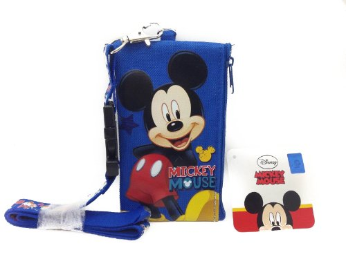 Disney Mickey Minnie Cars Id Ticket Iphone Key Chain Badge Holder Wallet Collection (mickey)