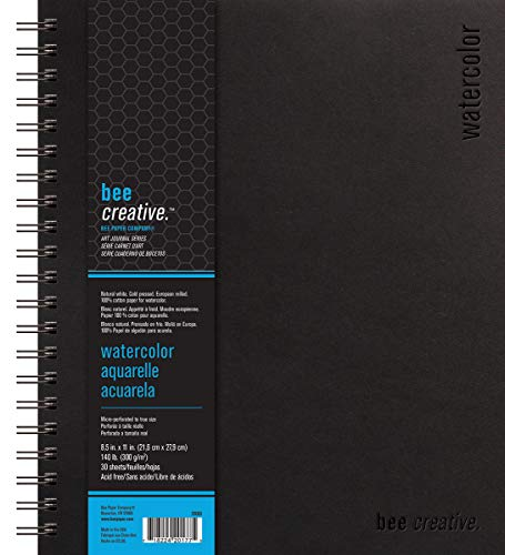 Bee Paper Company Bee Paper Bee Creative Watercolor Book, 8-1/2'-by-11, 8-1/2x11