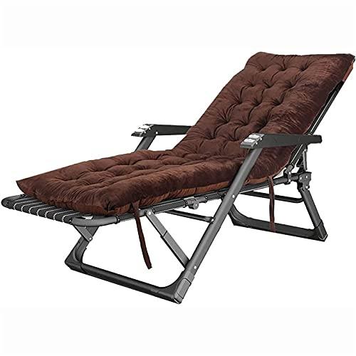 CHLDDHC Sun Lounge, sillón reclinable Plegable Ajustable, sillas de jardín Plegables para Exteriores con cojín Acolchado