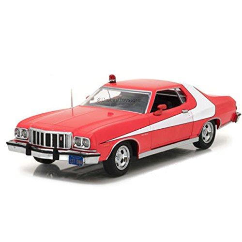 Greenlight Collectibles–Ford Gran Torino–Starsky e Hutch 1976–Scala 1/24, 84042, Rosso/Bianco