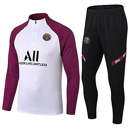 zhaojiexiaodian Uniforme de fútbol de manga larga, primavera y otoño, camiseta deportiva para adultos, traje de entrenamiento, traje de competición (imagen 3, L, l)