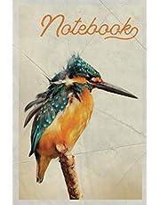 Notebook: Martin Pescador Professional Composition Book Journal Diary for Men, Women, Teen & Kids Vintage Retro Design Kingfisher Habitat