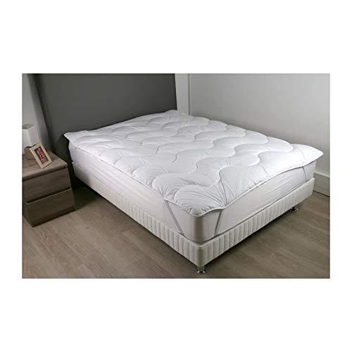 Dodo sur-matelas 90x190 - polyester fibre haute technologie 470 gr/m² - moelleux - contry