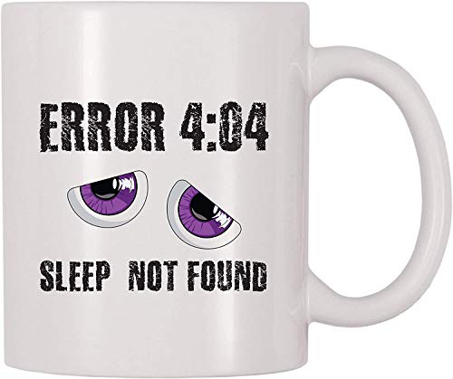 jifyasuo Error 404 Taza de café Sleep Not Found (11 oz)