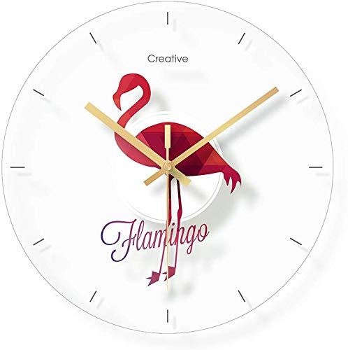 CLOCK Reloj, reloj de pared, reloj despertador, vidrio, reloj mudo de dormitorio, habitación infantil, reloj de dibujos animados / 12 pulgadas (patrón: B)