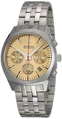 Bulova Accutron II Herren-Armbanduhr 41mm Armband Edelstahl Batterie 96B239