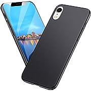 Meidom Kompatibel mit iPhone XR Hülle Ultra Dünn Schutzhülle Stoßfest Anti-Fingerabdruck Handyhülle Case für iPhone XR (6,1 Zoll) - Matt Schwarz