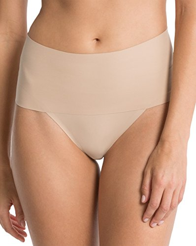 Spanx Damen Taillenslip Undie-Tectable Thong, Beige (Soft Nude 0), 36 EU  (Herstellergröße: M)