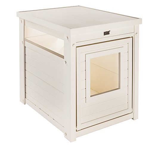 ecoFlex Litter Loo, Litter Box Cover/End Table, Antique White, Standard