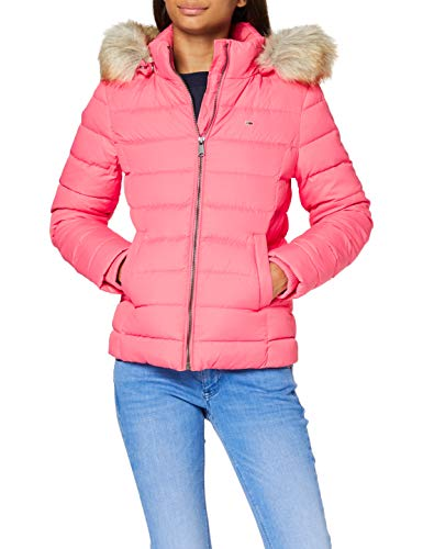 Tommy Jeans Damen Tjw Basic Hooded Down Jacket Jacke, Rosa (Glamour Pink), M