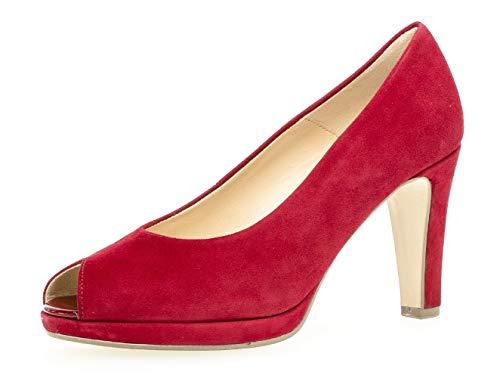 Gabor 21.390 Mujer,Zapatos con Punta Abierta,Zapatos de tacón Peep-Toe,Tacón Alto,Sexy,Fiesta,Party,Zapatos de Noche,Rubin,7 UK