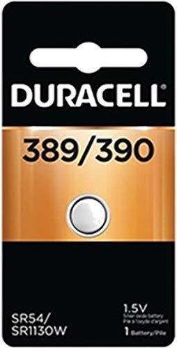 4 each: Duracell Silver Oxide Watch/ Calculator Battery (D389/390PK)