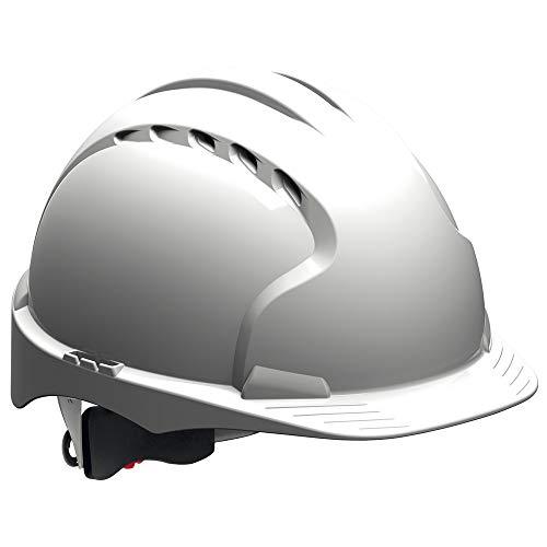 JSP Casco de protección EVO3 con cierre giratorio, EN 397, color blanco
