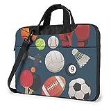 15.6 inch Housse Sacoche Ordinateur Portable Sacoche à Bandoulière d'affaires Messager Sac Gants de Boxe de Basket-Ball de Billard de Sport