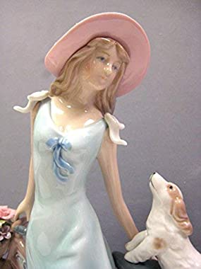 Cosmos 10414 Riding Bike with My Best Friend Ceramic Figurine, 10-5/8-Inch