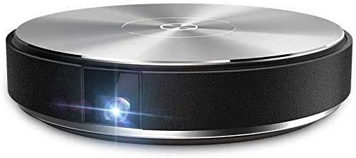 YUYANDE Mini-Projektor, 1080p- und 300-Bildschirm unterstützter Videoprojektor, Dual 5W Bluetooth-Stereo-Lautsprecher, 4k-Smartprojektor mit Android 4.4 Unterstützung 3D-Video