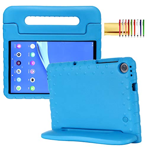 Kids Case for Lenovo Tab M10 Plus 10.3 2020, Techcircle Handle Stand Light EVA Foam Bumper Protective Rugged Drop Protection Child Proof Cover Shockproof Case for Lenovo Tab M10 FHD Plus TB-X606, Blue