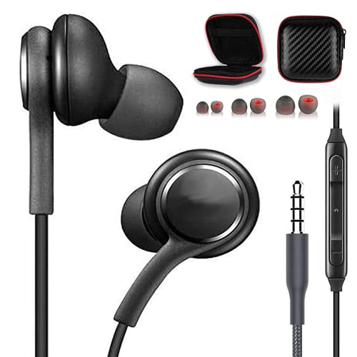 Earbuds Earphones for Samsung Galaxy s10 s9 s8 Plus Note audiofonos with Microphone Headphones Headset s8+ s9+ s10+ Black