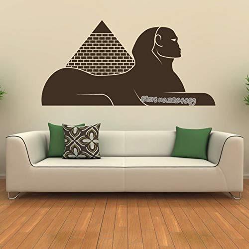 zqyjhkou Landmark Egyptian Sphinx Wall Sticker Ancient Mysterious Pyramid Egypt Wall Decal for Kids Room Living Room Art Home Decor 146x71cm