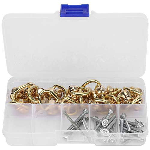 Botones de cabeza con anillo en D, accesorios de hardware de remache de uñas para interfaz de bolsa de bricolaje para decoración de carcasa de teléfono móvil para joyero de bricolaje para