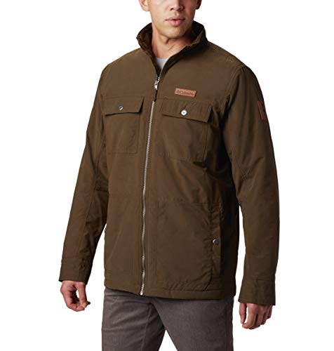Columbia Men's Wheeler Lodge Casual Jacket, Olive Green, Medium