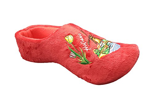 MB Clogs Original Holländische Hausschuhe Damen in rot
