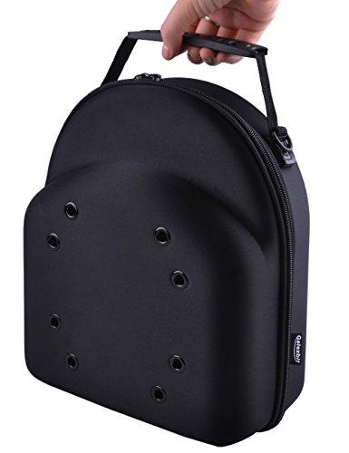 GALEXBIT Baseball Hat case Cap Carrier Case Holder for 6 Caps Hat Bag for Gift Home Travel(Black)(L)