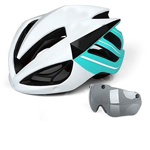 HKRSTSXJ Quilla de Casco de equitación Gafas Integrado de moldeo Macho y Hembra Transpirable Seguridad Sombrero Equipo de la montaña de la Bici (Color : Blanco)