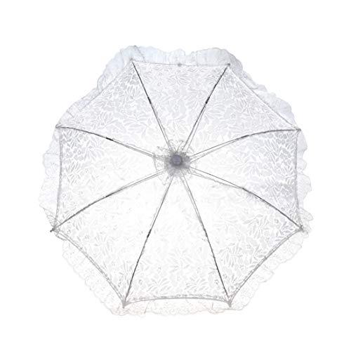SHENAISHIREN Spitze-Sonnenschirm, Sonnenschirm for Damen Hochzeit Festival im Freien, Hochzeitsfest-Hochzeit Dekoration, (Size : M)