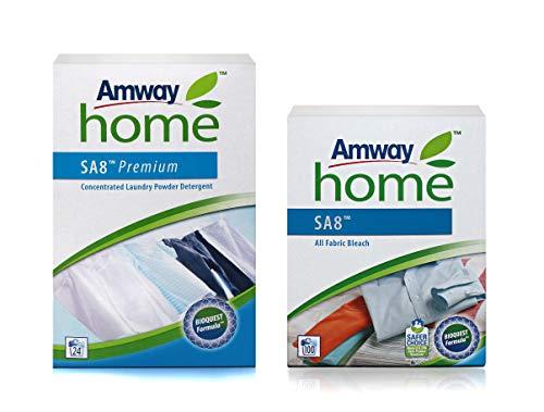 1 x Premium Konzentriertes Vollwaschmittel SA8™ - 1 kg + 1 x Textilbleichmittel - groß SA8™ - All Fabric Bleach - 1 kg - Amway - (Art.-Nr.: 109848) + (Art.-Nr.: 110481)