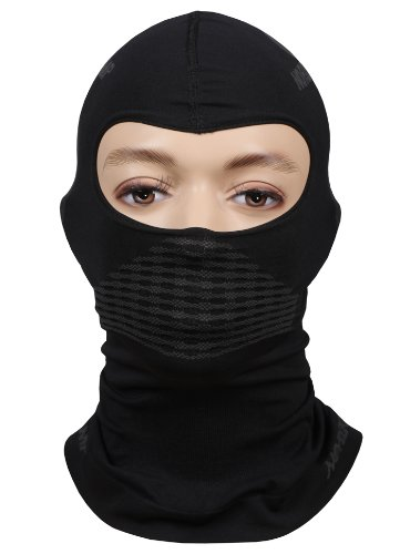Freenord Sturmhaube Gesichtshaube Skihaube Skimaske Kopfhaube Thermoaktiv Atmungsaktiv Skiunterwäsche Motorradunterwäsche - Ski - Motorrad - schwarz