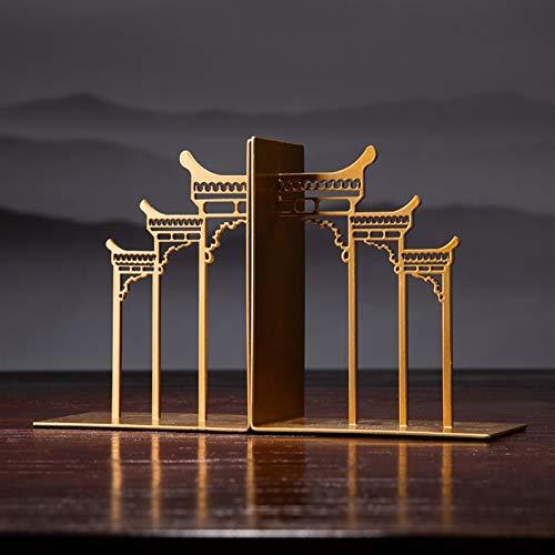 Fermalibri per Mensole Iron-in stile cinese bookend office bookend bookcases ornamenti ornamenti librelli creativi bookend semplici bobildri salotto soggiorno decorazione del gabinetto del vino Fermal