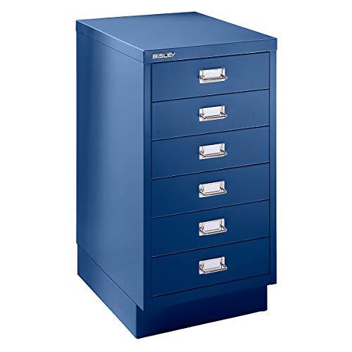 Bisley Schubladenschrank - 6 Schubladen für Format DIN A3 - kobaltblau | 112SPM-AP9 - Rollcontainer und Standcontainer drawer pedestals mobile pedestal fixed pedestal