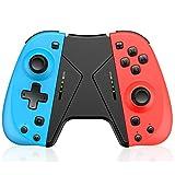 BEBONCOOL Mando para Nintendo Switch, Mando con soporte de agarre para Joy ConSwitch, Mando inalámbrico para el mando de Nintendo Switch con sensor de movimiento turbo de doble vibración