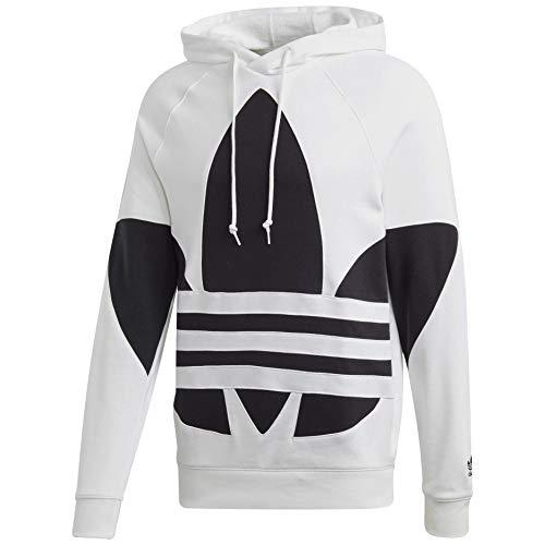 adidas Originals Men's Big Trefoil Hoodie Sweatshirt, White, M