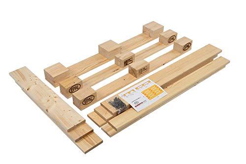 Schroth Home Möbelpalette Paletta gehobelt – EPAL Europaletten Bausatz geschliffen – kein lästiges schleifen mehr - günstiger Versand