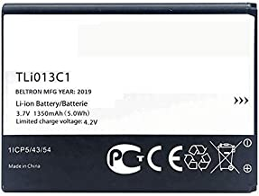 New 1350 mAh TLi013C1 BELTRON Replacement Battery for Alcatel One Touch Go Flip 4044 (Boost, Metro PCS, Sprint, T-Mobile, Virgin Mobile) Cingular Flip 2 / QuickFlip (AT&T, Cricket) Tracfone MyFlip 4G