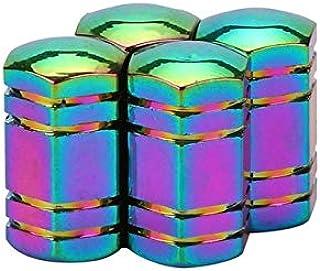 Zyj stores 4PCS Neon Lights Kleur Aluminium Car ventieldopjes Bullet Grenade Ontwerp Auto Truck Air Port Cover Band Rim Va...