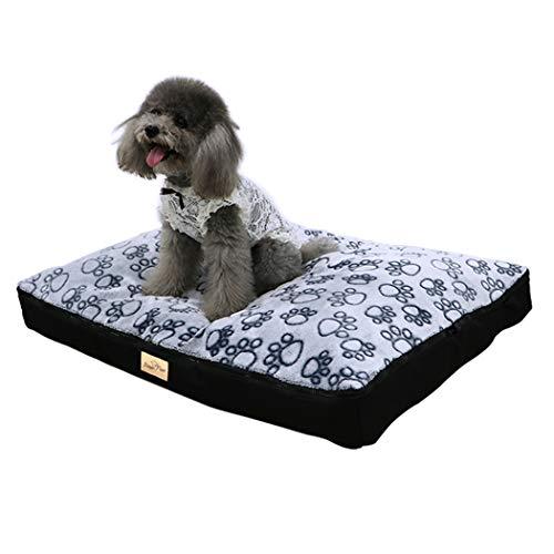 Bingopaw Cama para Perro Impermeable y Lavable 80 x 60 x 8cm Cómoda Sofá con Cojín Desmontable Cama Suave para Macotas Perros Gatos Tamaño L