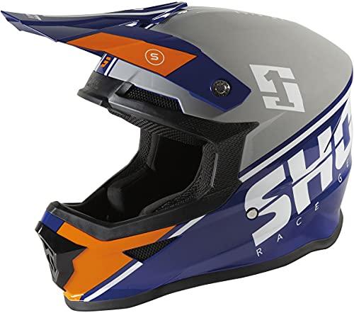 Shot Furious Spirit Casco Motocross Grigio/Blu M (57/58)