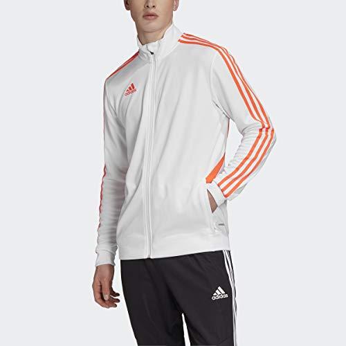 adidas Men's Soccer Tiro Track Jacket White/Solar Red Medium
