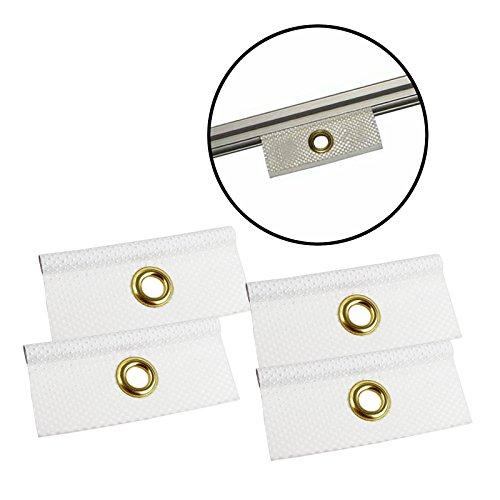 Set Kederöse weiß 7,5 mm für Kederschiene Wohnwagen & Wohnmobil Keder Öse (4)