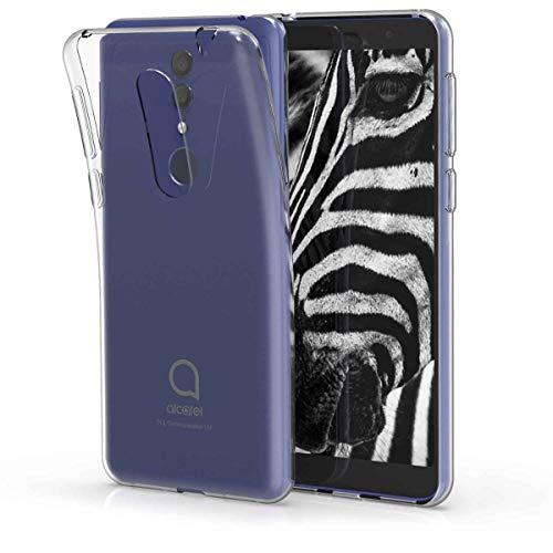 kwmobile Coque Smartphone Compatible avec Alcatel 1X (2019) - Housse de téléphone en TPU Transparent