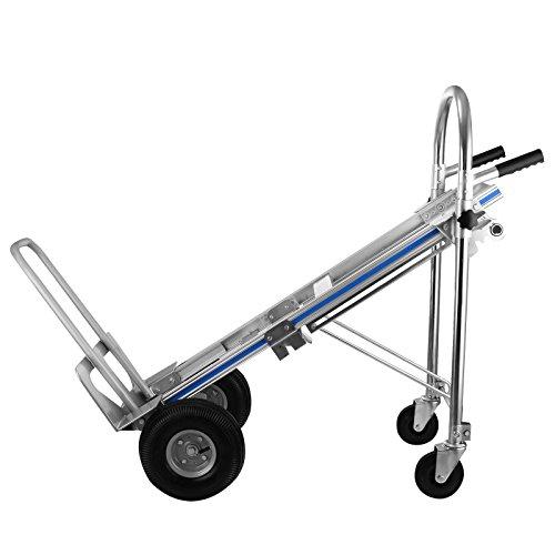 BuoQua 500kg 3 IN 1 Mano Carrello Pieghevole In Alluminio Carrello Pieghevole Spesa Con 2 o 4 ruote Mano Carrello Pieghevole Capacità Da 500kg
