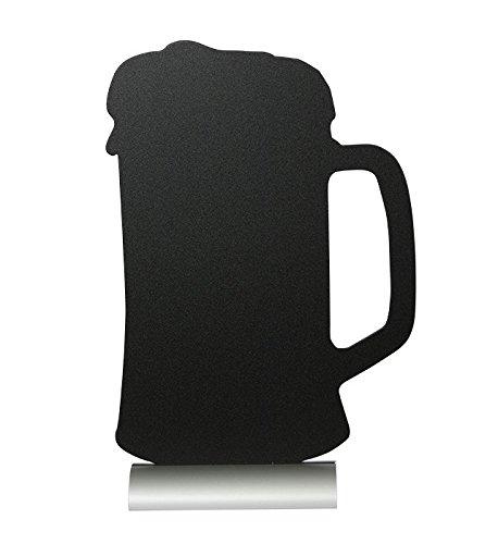 Pizarra como vaso de cerveza con tiza pie de aluminio Incluido